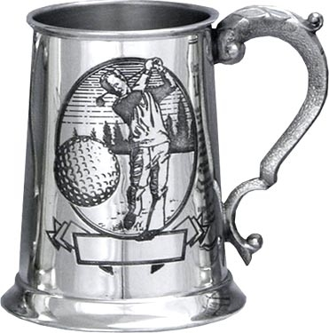 Pewter Golf Tankard - 'Golfer'