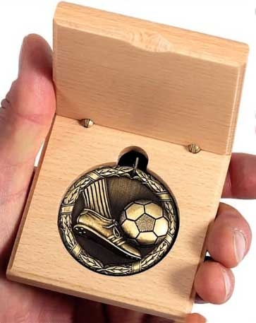 wooden medal case