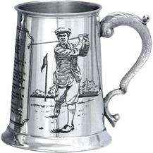 Pewter Golf Tankard - 'History of Golf'