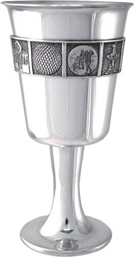 Pewter Golf Goblet - 6.25 inch