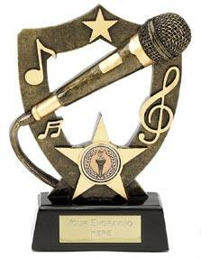 Resin Microphone Award with Backplate