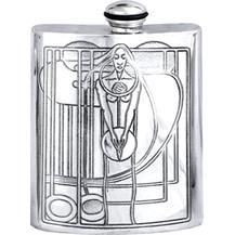 Charles Rennie Mackintosh Pewter 6oz Hip Flask