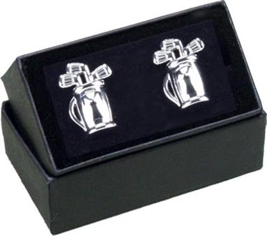 Pewter Golf Bag Cufflinks