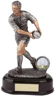 Antique Silver Rugby Figure