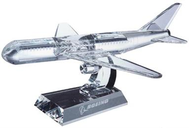 Optical Crystal Dual Engine Aeroplane