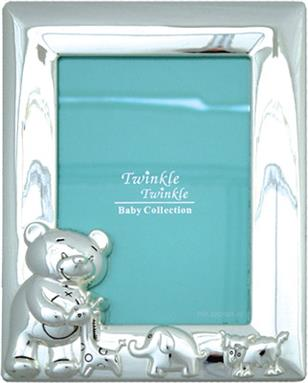 Twinkle Twinkle Sliver Plated Teddy Photo Frame - Portrait