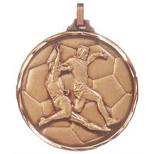 Faceted Football Medal - Sliding Tackle