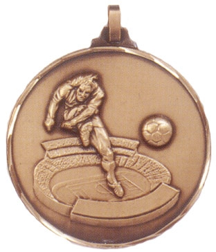 Faceted Football Medal - Stadium Striker