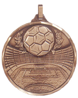 Faceted Football Medal - Ball and Reef