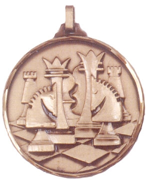 Faceted Chess Medal