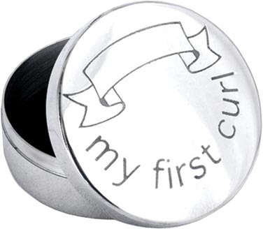 'My First Curl' Pewter Trinket Box