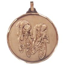 Faceted Cycling Medal