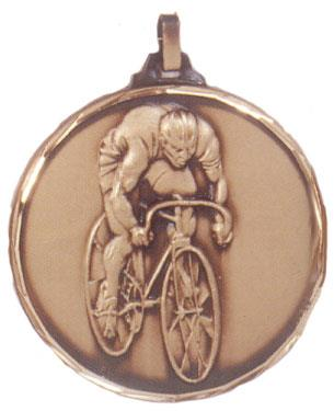 Faceted Cycling Medal - Solo