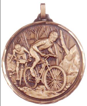 Faceted Cycling Medal - Off Road