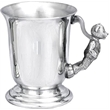 Child's Pewter 'Bell' Tankard - Teddy Bear Handle