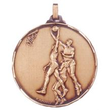 Faceted Basketball Medal