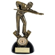 Dual Tone Resin Snooker / Pool Figure Trophy