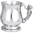 Child's Pewter 'Georgian' Tankard - Teddy Handle
