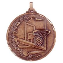 Faceted Basketball Medal - Net and Reef