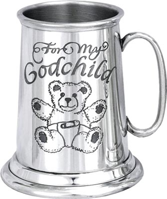 Child's Pewter Tankard - 'For My Godchild'