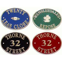 Polished Brass Oval Signs
