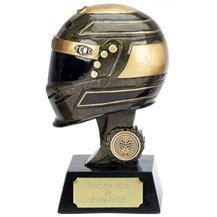 Dual Tone Resin 3D Motorsport Helmet Trophy