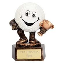 Smiley Ball Golf Trophy