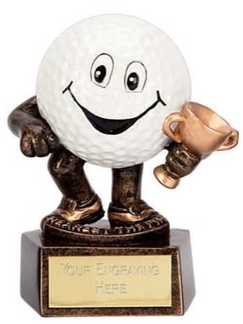 Smiley Ball Nearest The Pin Golf Trophy