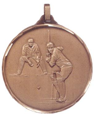 Faceted Cricket Medal - Batsman and Wicket Keeper