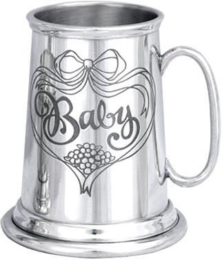 Baby / Child's Pewter Tankard - 'Baby'