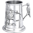 Baby / Child's Pewter Tankard - Stalk with Birth Information