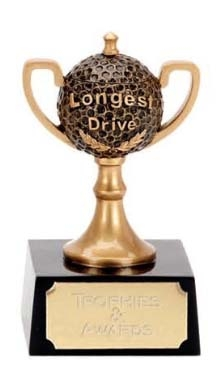 Longest Drive Golf Ball Cup Trophy
