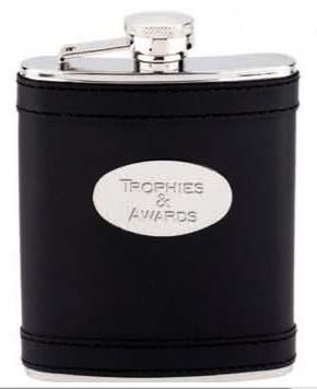 Stainless Steel Leamington Hip Flask