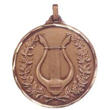 Faceted Music Medal - Harp in Reef