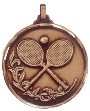 Faceted Tennis Medal