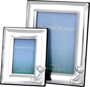 Pewter Baby Photo Frame - Teddy