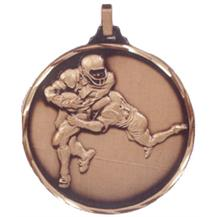Faceted American Football Medal