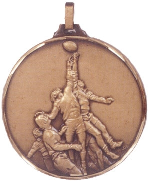 Faceted Rugby Medal - The Line Out