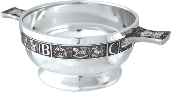 Pewter Quaich Bowl - Baby - ABC