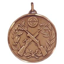 Faceted Shooting Medal - Crossed Rifles