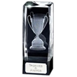 Optical Laser Crystal Award with 3D Trophy Cup