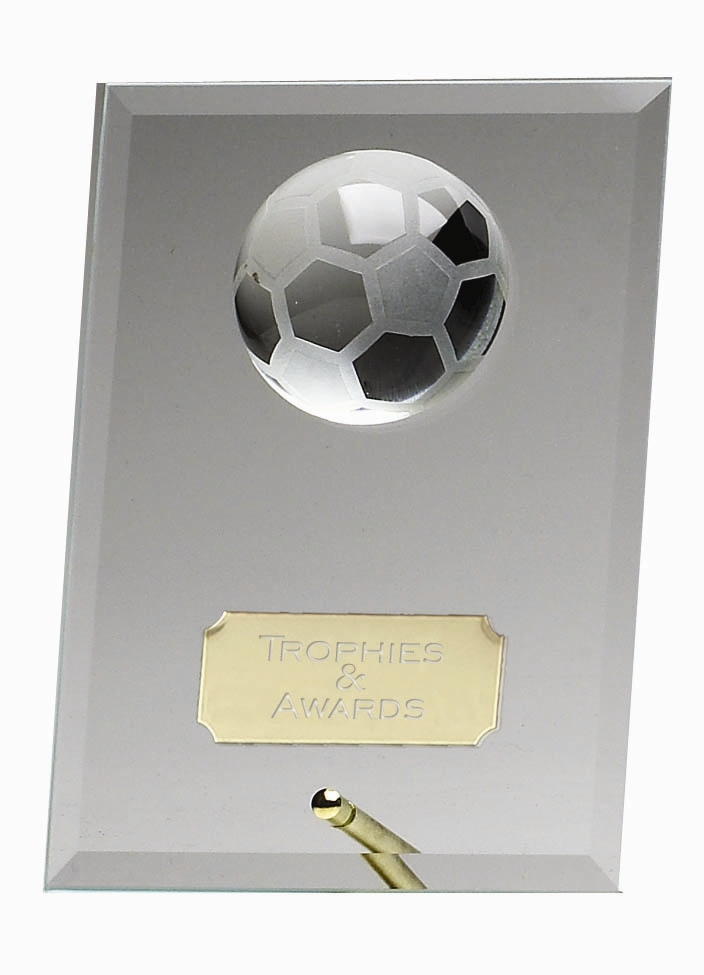 Jade Glass Football Prize Trophy