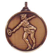 Faceted Women's Tennis Medal