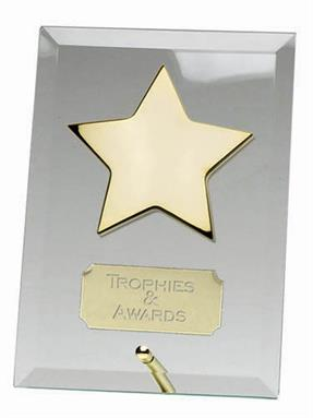 Crest Star Jade Glass Award