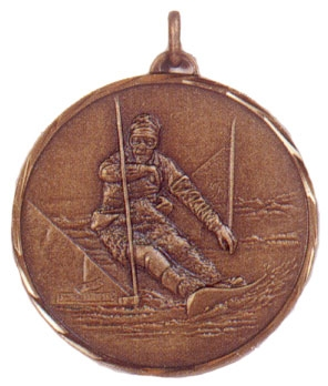 Faceted Snowboarding Medal