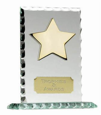 Pearl Edge Star Jade Glass Award