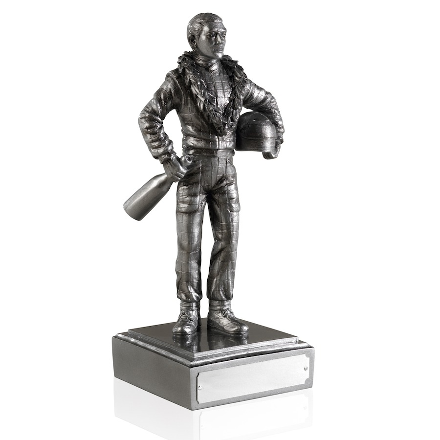Detailed Antique Silver Finish Motor Racing Figures